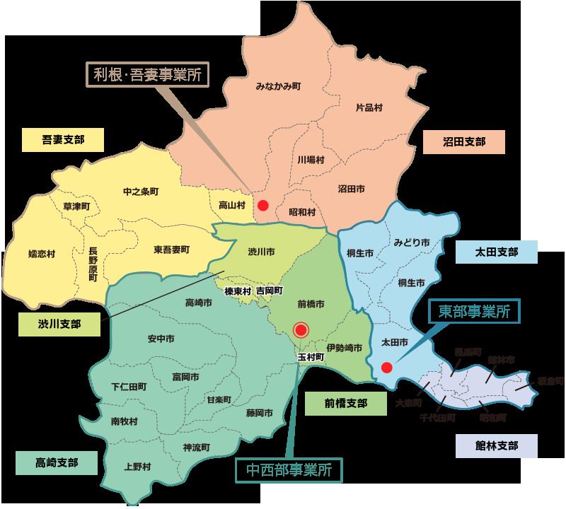 管轄区域図